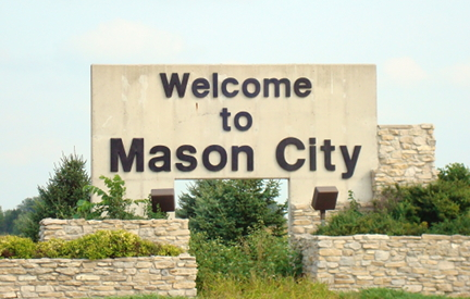 Image for Welcome to Mason City, Iowa Sign